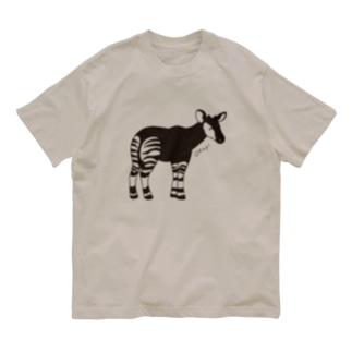 オカピ(線画) Organic Cotton T-shirts