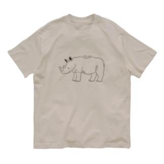 サイ(線画) Organic Cotton T-shirts