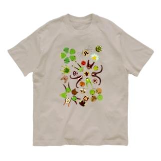 イモムシのお顔 Organic Cotton T-Shirt