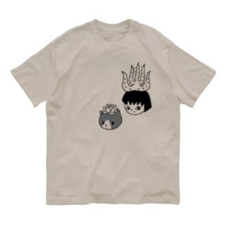アロエのアッちゃんとエケネコ Organic Cotton T-shirts