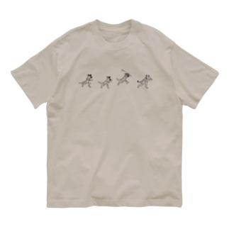 ぎんぺーのしっぽのサバンナ鳥獣戯画 Organic Cotton T-shirts