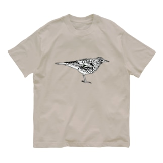 トラツグミのトラさん(白黒) Organic Cotton T-shirts