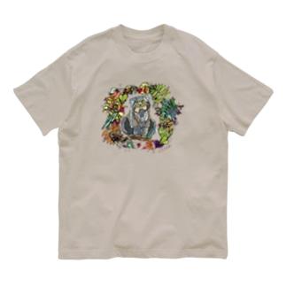 もふもふなシベリアのマヌルネコ Organic Cotton T-Shirt