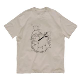 シマエナガリース Organic Cotton T-shirts
