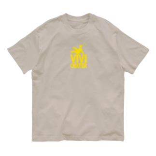 びびっちゃったー(危険色ロゴ) Organic Cotton T-shirts