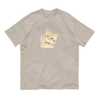 大変なとき手を貸す猫 Organic Cotton T-shirts
