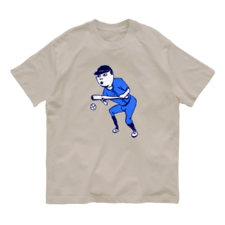 この夏おすすめ!野球デザイン「バント」<文字なし> Organic Cotton T-shirts