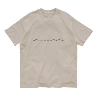 クロオオアリの行列 Organic Cotton T-shirts