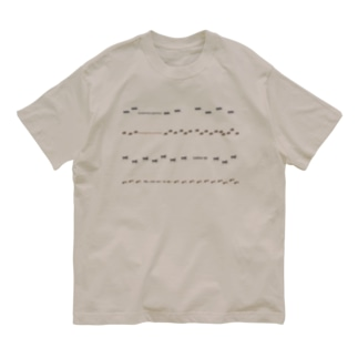 アリたちの行列(クロオオアリ、アミメアリ、クロクサアリ、ヒメアリ) Organic Cotton T-shirts