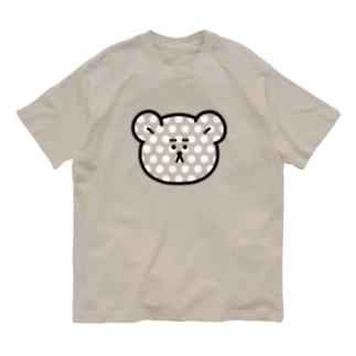 みずたま柄くま Organic Cotton T-shirts