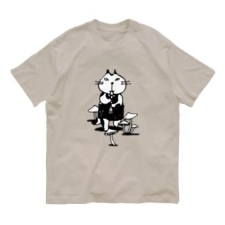 なまらやのきのこと笛猫 Organic Cotton T-shirts