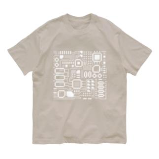 電子基盤 Organic Cotton T-shirts