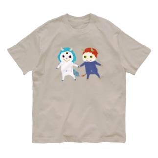 おばけTシャツ<白澤と件> Organic Cotton T-shirts
