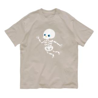 おばけTシャツ<でっかいガイコツ> Organic Cotton T-shirts