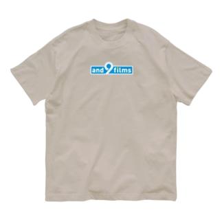 アンドナインロゴ(BLUE)Tシャツ Organic Cotton T-shirts