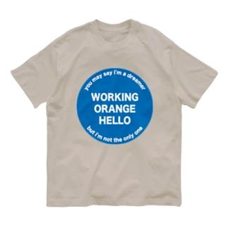 ワーキングオレンジハローTシャツ Organic Cotton T-Shirt
