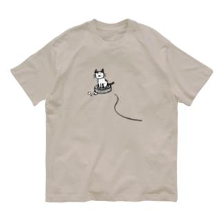 ルンバに乗るネコさま Organic Cotton T-Shirt