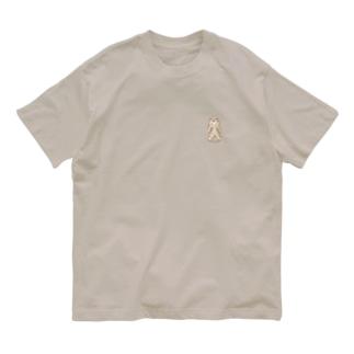 ワンポイント角偶 Organic Cotton T-shirts