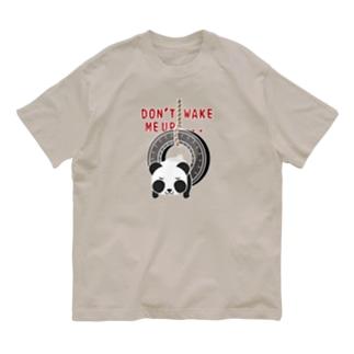 CT162 おこさないでねA*ズレぱんだちゃんのDON'T WAKE ME UP...*白フチあり Organic Cotton T-Shirt