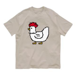 ニワトリ Organic Cotton T-shirts