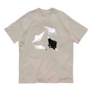 うみのいきもののマンタ・マンタ Organic Cotton T-shirts