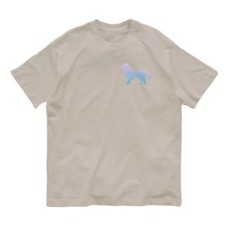 花-sun2 ボーダーコリー Organic Cotton T-shirts