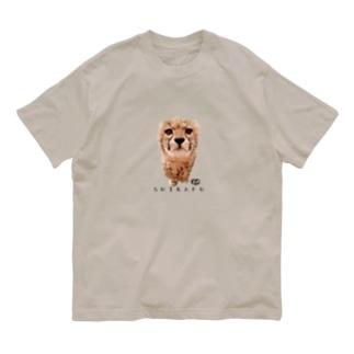 ど真ん中しばふちゃん Organic Cotton T-shirts