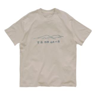 山の門の山形(青) Organic Cotton T-Shirt