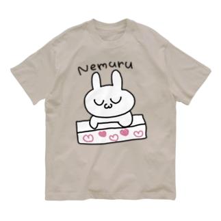 ねむるうさぎ Organic Cotton T-shirts