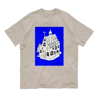 """BLUE CHURCH"" Organic Cotton T-shirts"