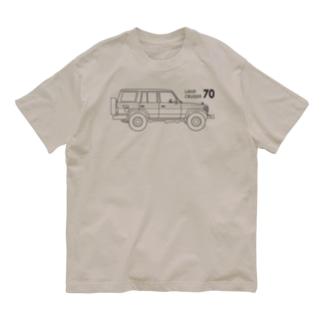ランドクルーザー70のイラスト Organic Cotton T-shirts