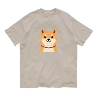 いつもいっしょ(赤柴) Organic Cotton T-shirts