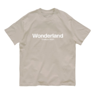 Wonderland LOGO 白 Organic Cotton T-shirts