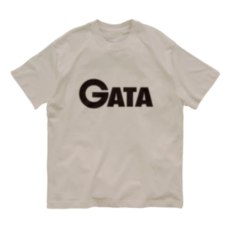 GATAロゴ【黒】 Organic Cotton T-shirts