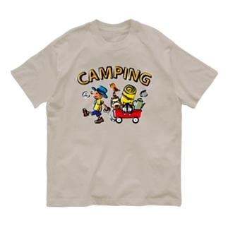 キャンピング_カラフル Organic Cotton T-Shirt