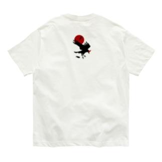 レイヴン/赤月 Organic Cotton T-shirts