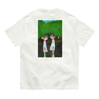 【バックプリント】ぼかし 夏の日のいちにし 大きめ Organic Cotton T-shirts