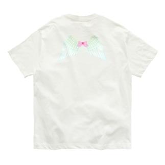 ツシマヤマネコフェアリー(せなかに天使の羽) Organic Cotton T-shirts