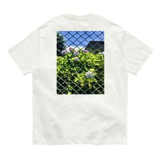 フェンス越しの花たち Organic Cotton T-shirts