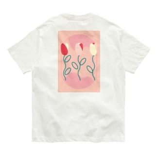 TULIP_PINK Organic Cotton T-shirts