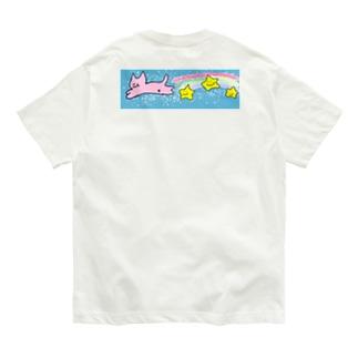空 飛ぶ ねこ Organic Cotton T-shirts