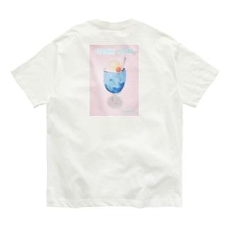クリームソーダ バックプリント Organic Cotton T-Shirt