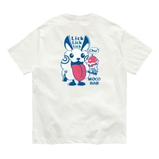 バックプリント*CT123 モコモコラビット1号*Lick Lick Lick Organic Cotton T-Shirt