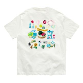 【バックプリント】 ドットSummer no.2 Organic Cotton T-shirts