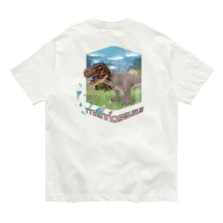 【バックプリント】 ティラノサウルス Organic Cotton T-shirts