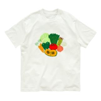 野菜大好きなひと専用デザイン「野菜大集合」 Organic Cotton T-shirts