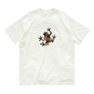 茶色いカエル Organic Cotton T-shirts