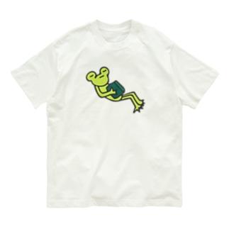 読書していたかえる Organic Cotton T-shirts