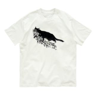 花咥え猫 Organic Cotton T-shirts