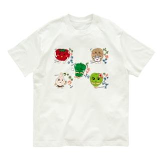 ベジタブル2-fruits and vegetables word chain-ベジフルしりとり- Organic Cotton T-shirts